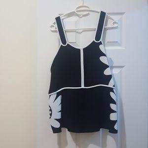 Victoria Beckham for Target top black&white medium